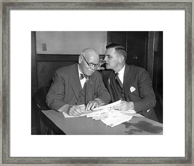 New Dodger Manager Max Carey Framed Print by Underwood Archives