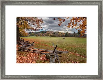 New England Autumn Field Framed Print by Bill Wakeley