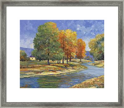 New England Autumn Framed Print by John Zaccheo