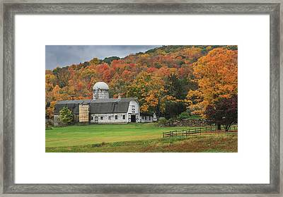 New England Barn Autumn Framed Print by Bill Wakeley