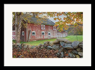 Autumn In New England Framed Prints