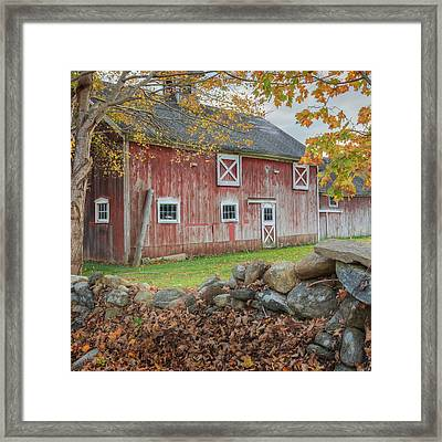New England Barn Square Framed Print