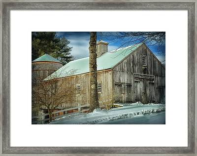 New England Barn Framed Print by Tricia Marchlik