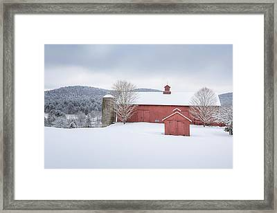 New England Barns Framed Print by Bill Wakeley