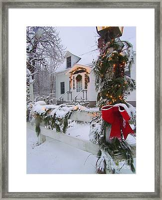 New England Christmas Framed Print