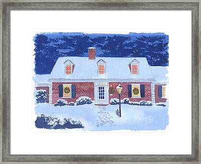New England Christmas Framed Print by Mary Helmreich