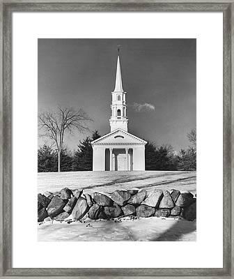 New England Church Framed Print
