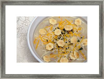 New England Clam Chowder Framed Print by Andee Design