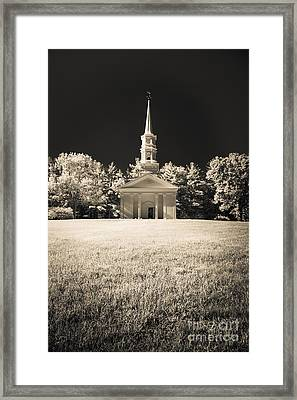 New England Classic Church Infrared Framed Print
