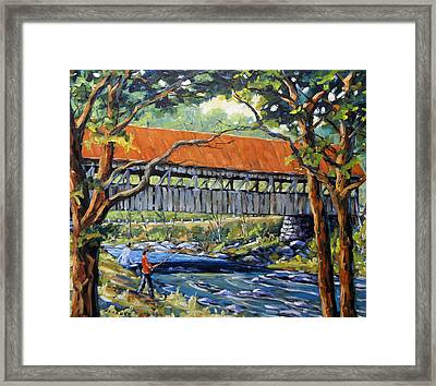 New England Covered Bridge By Prankearts Framed Print