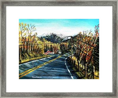 New England Drive Framed Print