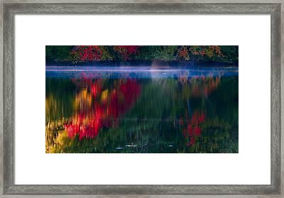 New England Fall Abstract Framed Print by Dapixara photos