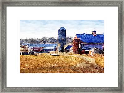 New England Farm 2 Framed Print