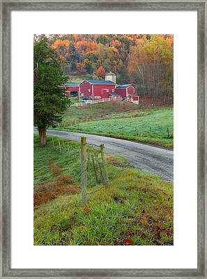 New England Farm Framed Print by Bill Wakeley
