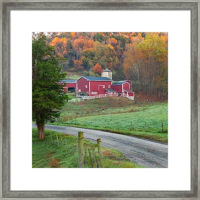 New England Farm Square Framed Print by Bill Wakeley