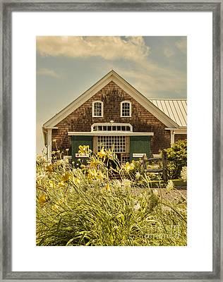New England Farmhouse Framed Print