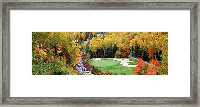 New England Golf Course New England Usa Framed Print by Panoramic Images