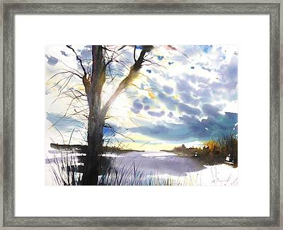 New England Landscape No. 218 Framed Print by Sumiyo Toribe