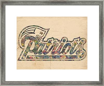New England Patriots Logo Art Framed Print by Florian Rodarte