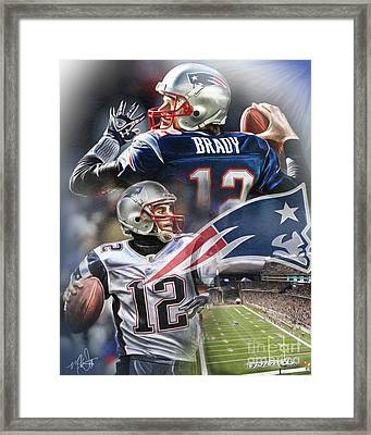 New England Patriots Framed Print by Mike Oulton