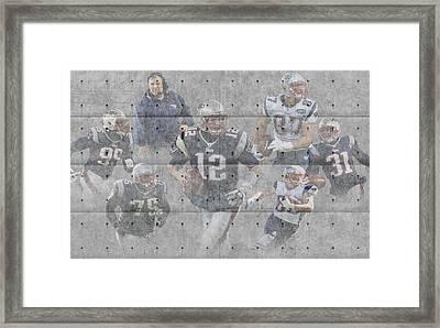 New England Patriots Team Framed Print by Joe Hamilton