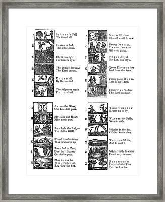 New England Primer, 1777 Framed Print by Granger
