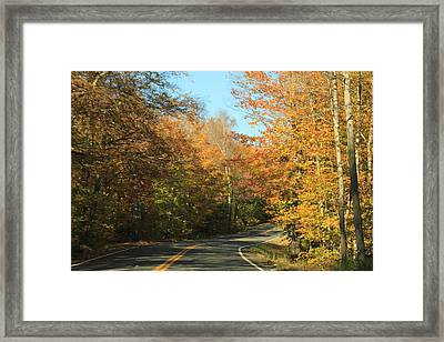 New England Road Framed Print