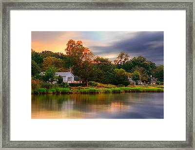 New England Setting Framed Print by Lourry Legarde