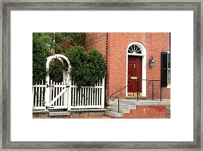 New England Street Scene Framed Print