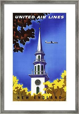 New England United Air Lines Framed Print by Mark Rogan