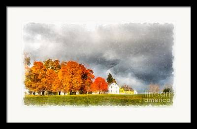New England Village Photographs Framed Prints