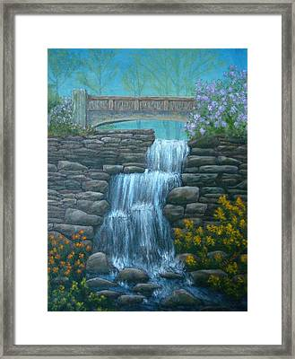 New England Waterfall Framed Print by Pamela Allegretto