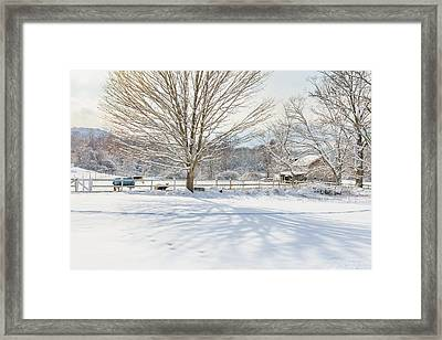 New England Winter Framed Print by Bill Wakeley