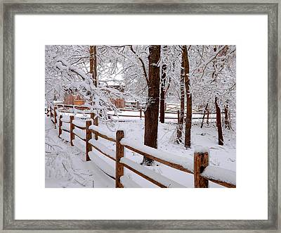 New England Winter Framed Print