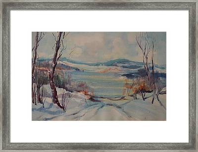 New England Winter Framed Print by Dorothy Campbell Therrien