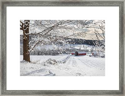 New England Winter Farms Framed Print by Bill Wakeley