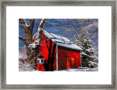 New England Winter Framed Print by Karol Livote
