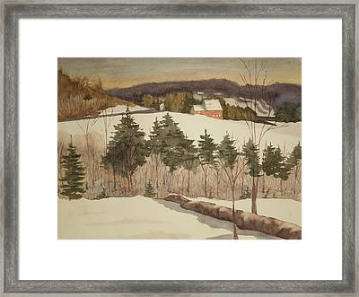 New England Winter Framed Print by Peggy Poppe