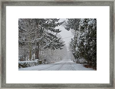 New England Winter Street Framed Print by Toby McGuire