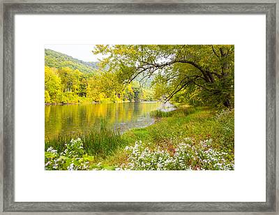 New Englands Early Autumn Framed Print