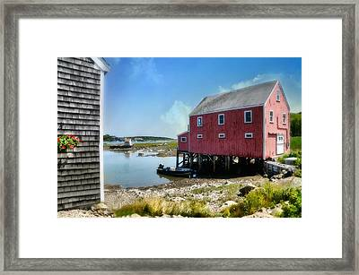 New England's  Maine Framed Print by Diana Angstadt