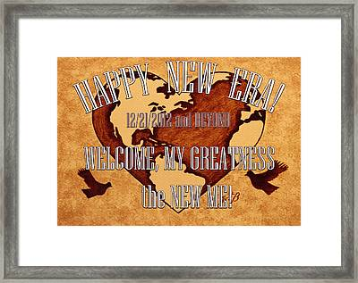 New Era On Earth  Framed Print by Costinel Floricel