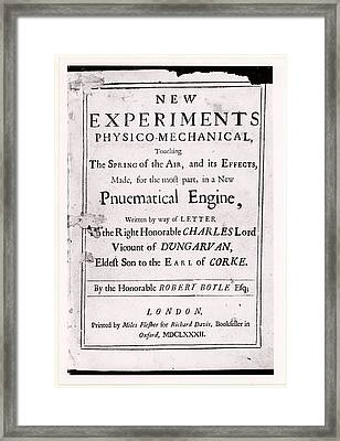 New Experiments Physico-mechanical Framed Print by Universal History Archive/uig