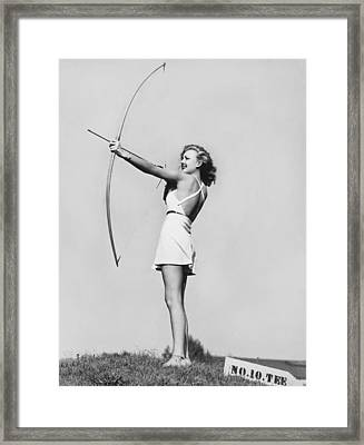 New Fad Archery Golf Framed Print by Underwood Archives