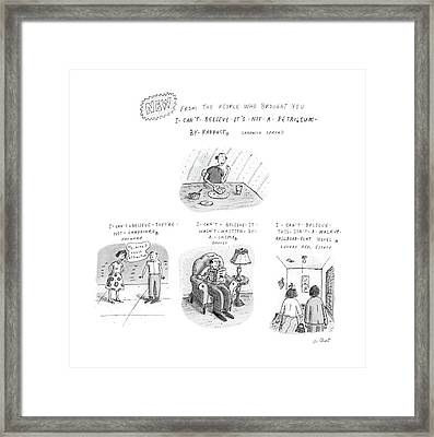 New From The People Who Brought Framed Print