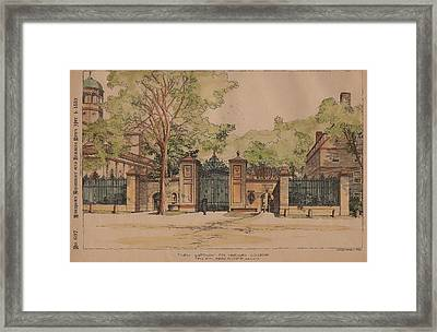 New Gateway For Harvard College Framed Print by McKim Mead and White Architects