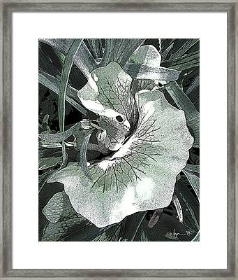 Framed Print featuring the photograph New Growth On The Staghorn by Angela Treat Lyon