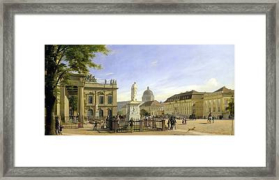 New Guardshouse In Berlin Framed Print by Johann Philipp Eduard Gartner