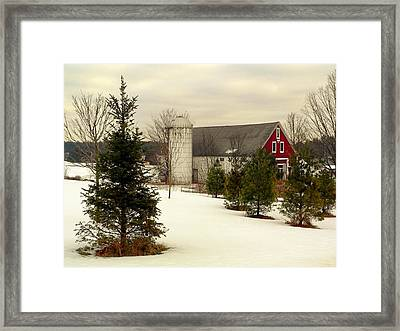 New Hampshire Barn Framed Print by Janice Drew