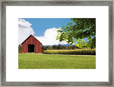 New Hampshire Barnyard Framed Print by Fred Larson